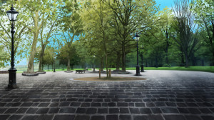 石畳の公園