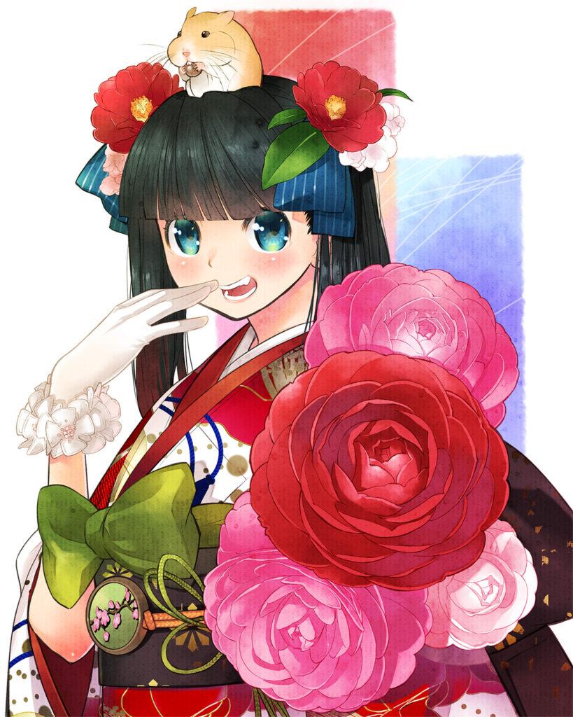 椿姫(2020年年賀絵)